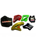 Enduro Dirtbike and Motocross unique customizable plastic protection parts